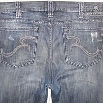 Rock & Republic Bolt 36/34 Actual Size 37 1/2 X 34 Distressed Men's Jeans Photo