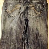Rock & Republic Bolt Distressed Dark Wash Bootcut Jeans  36 X 32 Photo