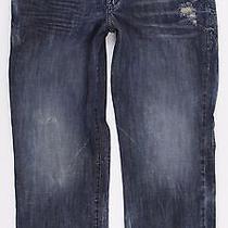 Rock & Republic Bolt Straight Distressed Blue Jeans Mens Sz 40 X 30 Cotton Photo