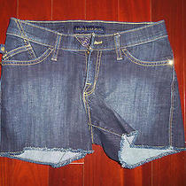 Rock & Republic Cotton Stretch Denim Mini Shorts Size 0 Photo