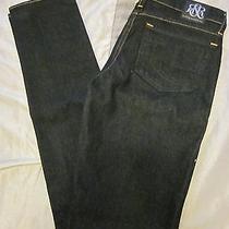 Rock & Republic Dark Wash Berlin Skinny Slim Jeans Sz 27 X 34 Like New Photo