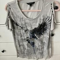 Rock & Republic Gray  Cold Shoulder Top or Shirt Women's Size Xs Nwot Photo