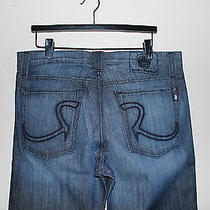 Rock & Republic Henlee Black Bolted Denim Jeans 36 X 34 Nwt New Relaxed Straight Photo