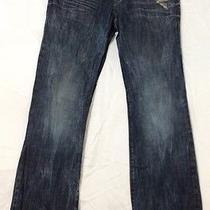 Rock & Republic Jeans Distressed Bolt Denim 36x34 Skull Button/tabs Photo