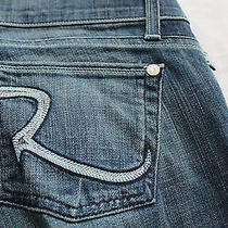 Rock & Republic Maternity Women Radial Blue Adjustable Jeans Nwt  28  35x34 179 Photo