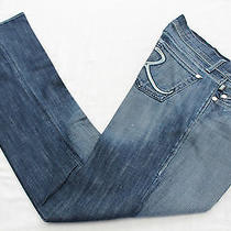 Rock & Republic Maternity Women Radial Blue Adjustable Jeans Nwt  31  39x35 179 Photo