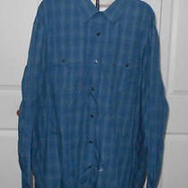 Rock & Republic Mens Blue Plaid Long Sleeves Button Down Casual Shirt Size 2xb Photo