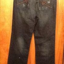 Rock & Republic Mens Grunge Mechanic Destressed Denim Jeans 33 X 32 Straight Leg Photo