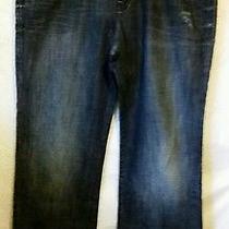 Rock & Republic Mens Jeans 38x30 Boot Cut Leg Bolt R510250 Distressed Euc Photo