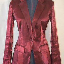 Rock & Republic Shiny Maroon Blazer Size 6 Women's  Photo