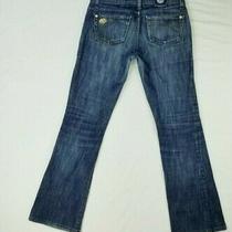 Rock & Republic Size 26 Kiedes Women's Low Rise Metal Logo Blue Jeans Photo