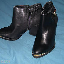 Rock & Republic Women's Black Zip Up Buckle High Heel Ankle Boots Shoes  9 90 Photo