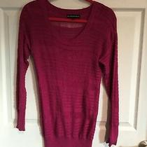 Rock & Republic Womens Small Pink Sweater Long Sleeve Round Neck - Photo