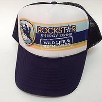 Rockstar Energy Drink Hat Wild Life & Recreation Trucker Navy Blue Mesh Snap Photo