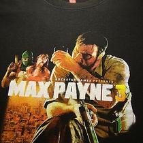 Rockstar Vancouver Max Payne 3 Gamestop T Shirt Adult Small Tee Video Game  Photo