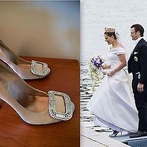 Roger Vivier New Blush Swarovski Crystal Buckle Wedding Heels Shoes 36.5it/6.5us Photo