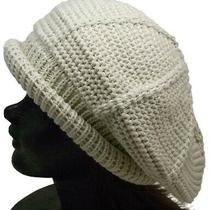 Roll Tom Ivory Acrylic One-Size-Fits-All Mens Women 'S Beret Knit Cap Hat Photo