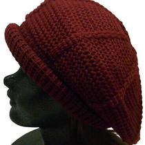 Roll Tom Wine Acrylic One-Size-Fits-All Mens Women 'S Beret Knit Cap Hat Photo