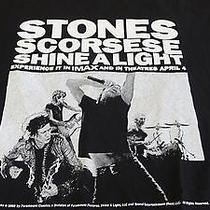 Rolling Stones Scorsese Shine a Light Fender Guitar Black  Large T-Shirt Photo