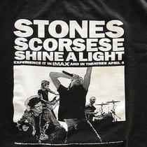Rolling Stones Shine a Light Black Tee Shirt L Large Scorsese Fender Free S/h Photo