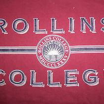 Rollins College Private Liberal Arts Winter Park Florida Maroon T Shirt - L Photo