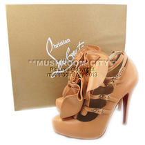Romantic Christian Louboutin Blush Dillian 120 Leather Platforms Heels 35.5 Photo