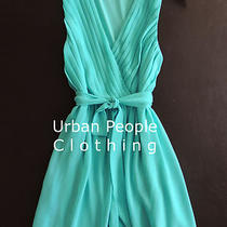 Romantic Spring Aqua Vtg Mod Cloth Dress M Free Spirit Urban People Clothing Photo