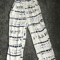 Romper by Dolan Size Small With Pockets White and Blue Tie-Dye Photo