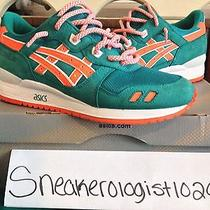 Ronnie Fieg Asics Gel Lyte 3 Miami Dolphins Size 8.5 Ecp 100% Authentic Fanfare Photo