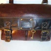 Roots  Fossil 54 Vintage Mint All Leather Messenger Laptop Bag 324 Retail  Photo