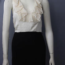 Rory Beca 100% Silk Solid Black Above Knee Sleeveless Sheath Dress Lbd 0-Xs Photo