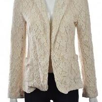 Rory Beca Blazer Size S Ivory Floral Lace Cotton Career Jacket Casual Photo