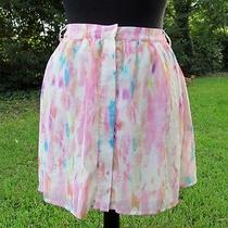 Rory Beca Forever 21 Pastel Multi-Color Above Knee Large a-Line Polyester Skirt Photo