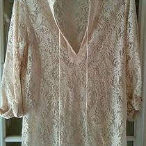 Rory Beca Lacy Crochet Tunic Blouse Size Medium Photo