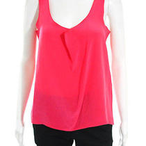 Rory Beca Pink Silk Sleeveless Scoop Neck Camisole Tank Top Sz Xs Photo
