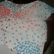 Rory Beca Size Medium Juniors Blouse See Through Dotted Pattern  Photo