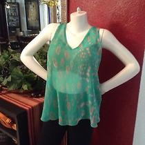 Rory Beca Womens Top M Green See Through Photo