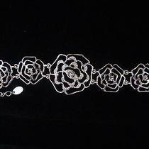 Rose Bracelet Clear Swarovski Crystal Bracelet Bridesmaids Bracelet B715 Photo