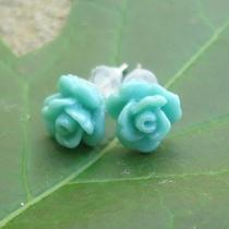 Rose Earrings Usa Seller Wholesale for Baby to Adult Cabochon 7mm Bud Photo