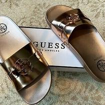 Rose Gold Athleisure Guess Womens Softly Flat Sandals Photo