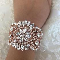 Rose Gold Bridal Bracelet to Match the Sash Beautiful Bridal Cuff Photo