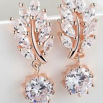 Rose Gold Bridal Earrings Cz  Photo