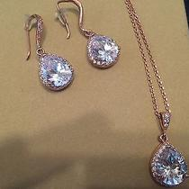 Rose Gold Bridal Necklace and Earring Set  Photo