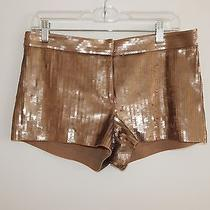Rose Gold Bronze Sequin Shorts Express Size 4 Photo