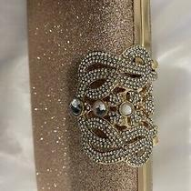 Rose Gold Clutch W/decorative Closure Photo