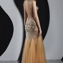 Rose Gold Jovani Prom Dress Photo