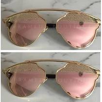 Rose Gold Pink Jewelled Aviator Sunglasses New in 2017  Free Case  .35 Photo