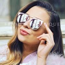 Rose Gold Pink Reflective Mirrored Aviator Sunglasses Celeb Style  Free Case  .8 Photo