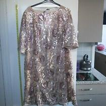 Rose Gold Sequin Evening Cocktail Dress Nwts Size 30 Photo