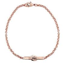 Rose Gold Tone Cz Buckle Bar Bracelet Photo